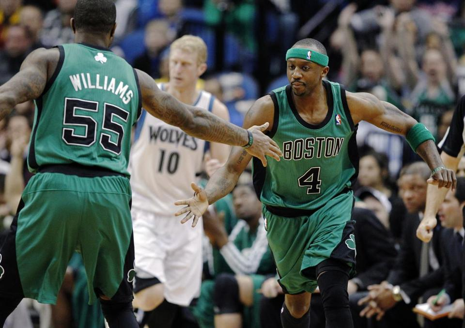 Jason Terry (right) and the Celtics face Detroit Wednesday at TD Garden.