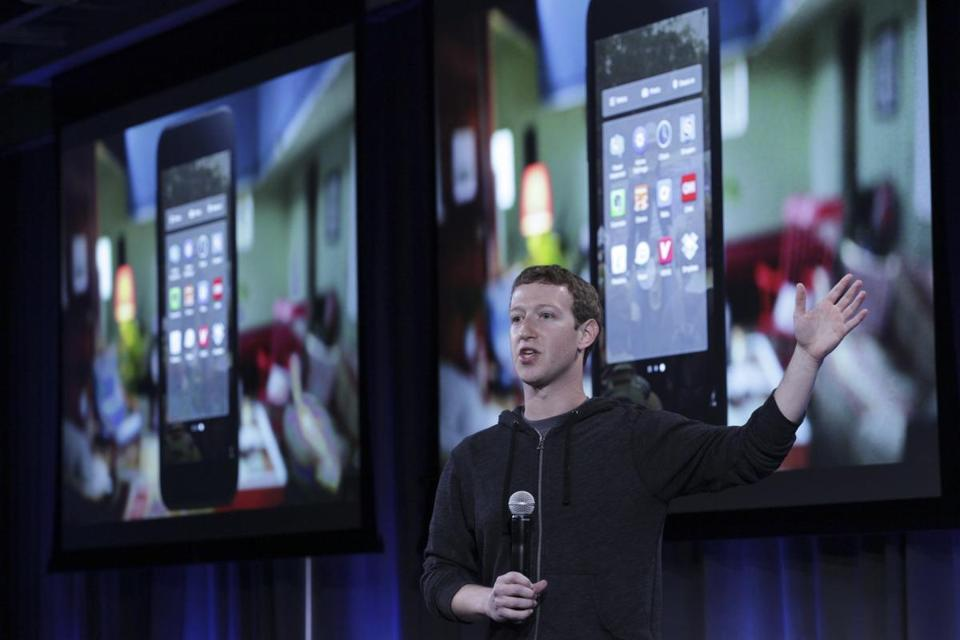 Facebook chief executive Mark Zuckerberg  introduced  Facebook Home in Menlo Park, Calif., on Thursday.