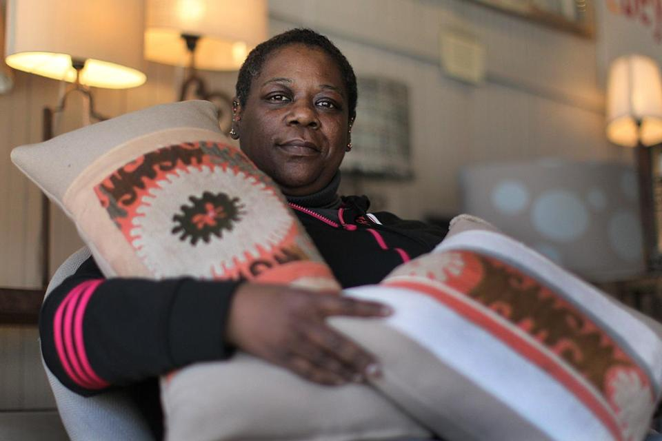 Lorraine Carrington sews lampshades and pillows for the Cambridge home décor business 2b design, and will soon be hired.