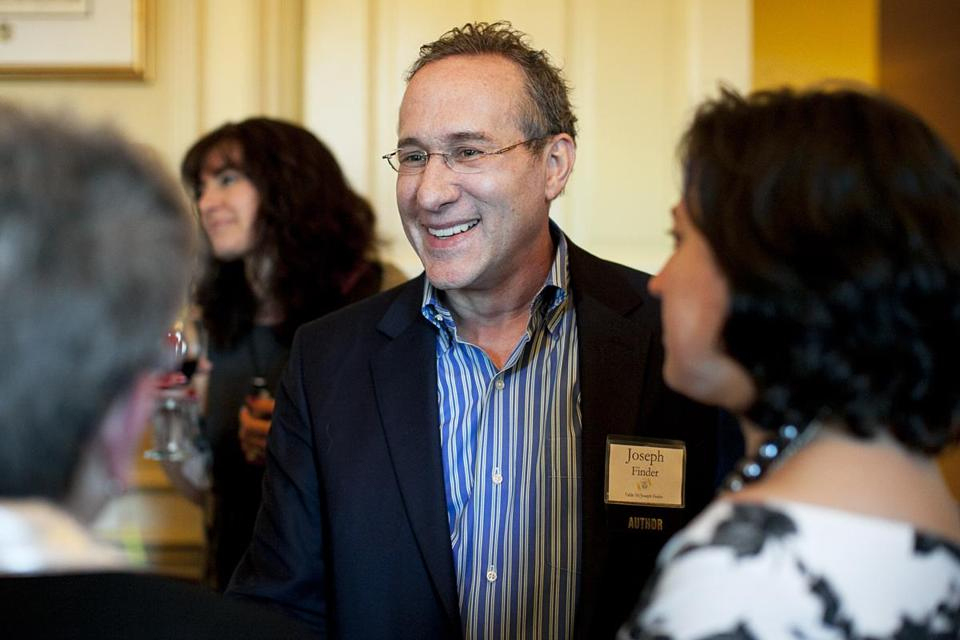 Writer Joseph Finder at the Raising a Reader MA dinner.