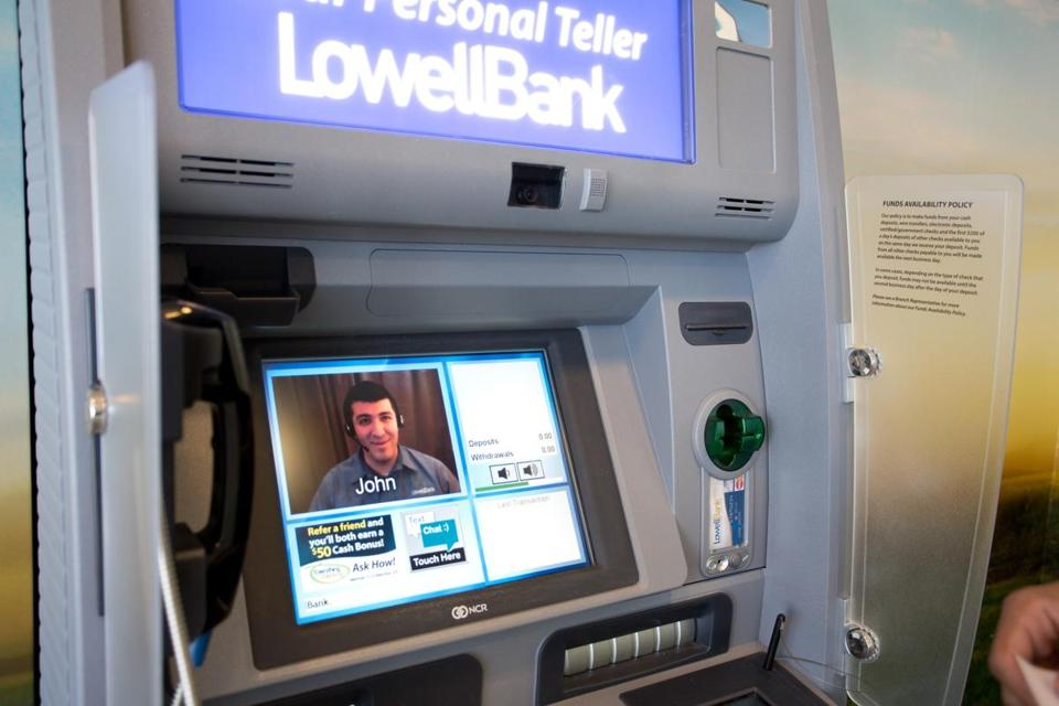 New ATMs allow bank customers to talk to tellers when they need help.