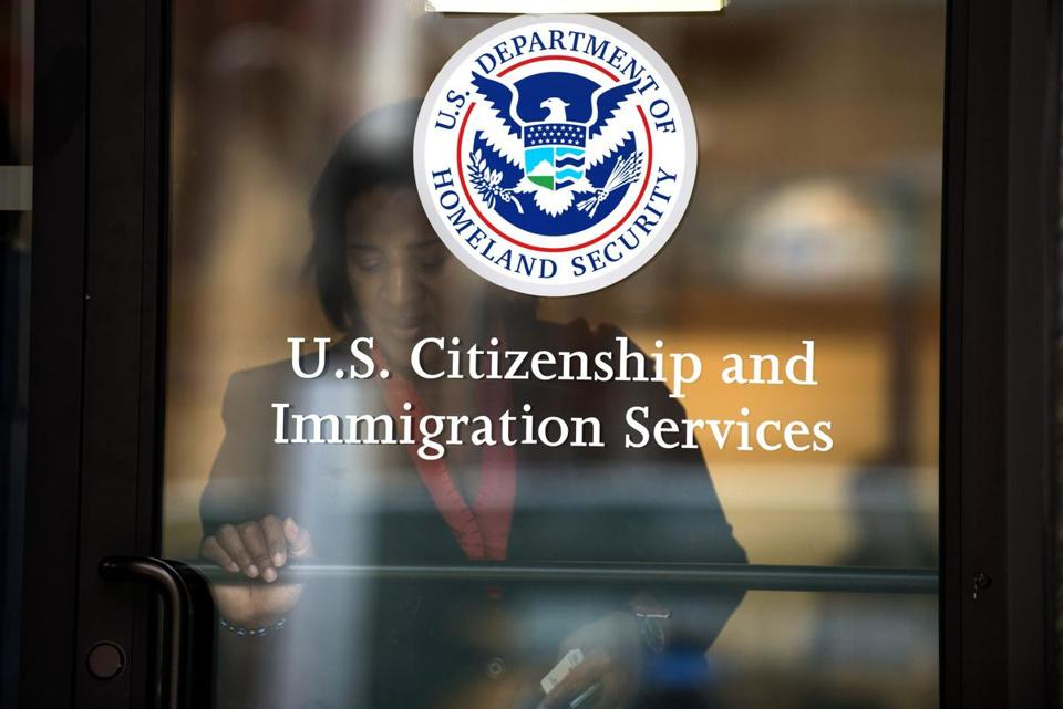 The US Citizenship and Immigration Services office in New York.