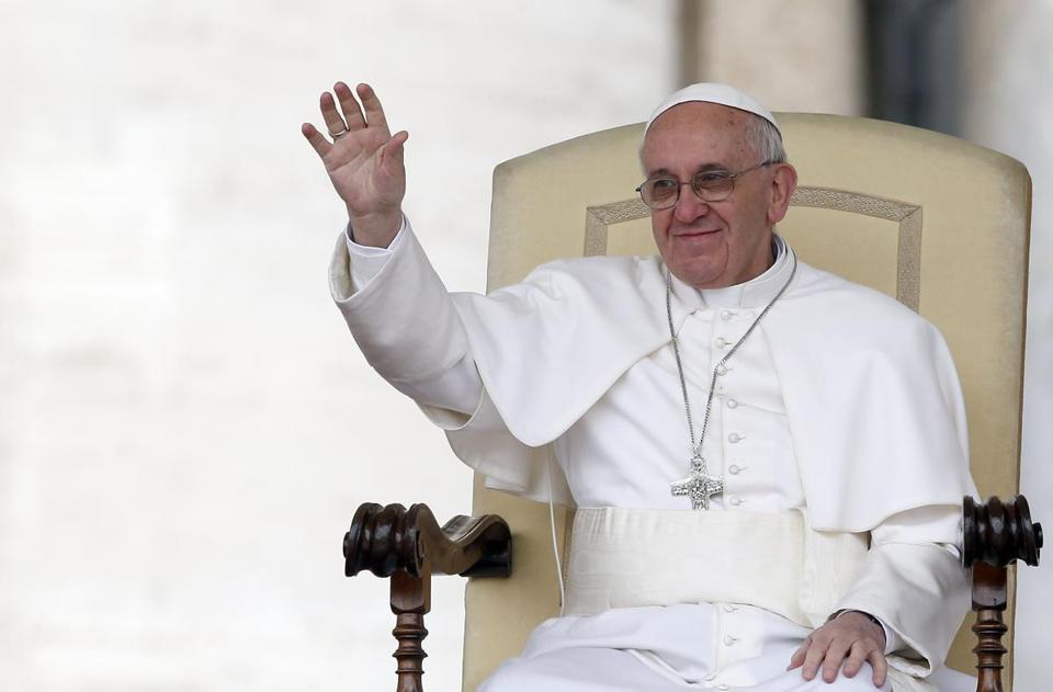 Pope Francis led a weekly general audience in Saint Peter's Square on Wednesday.