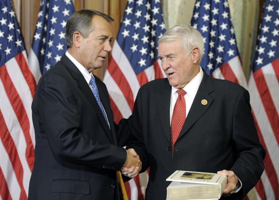 Representative John Carter of Texas (right) is a leader in the secretive House effort.