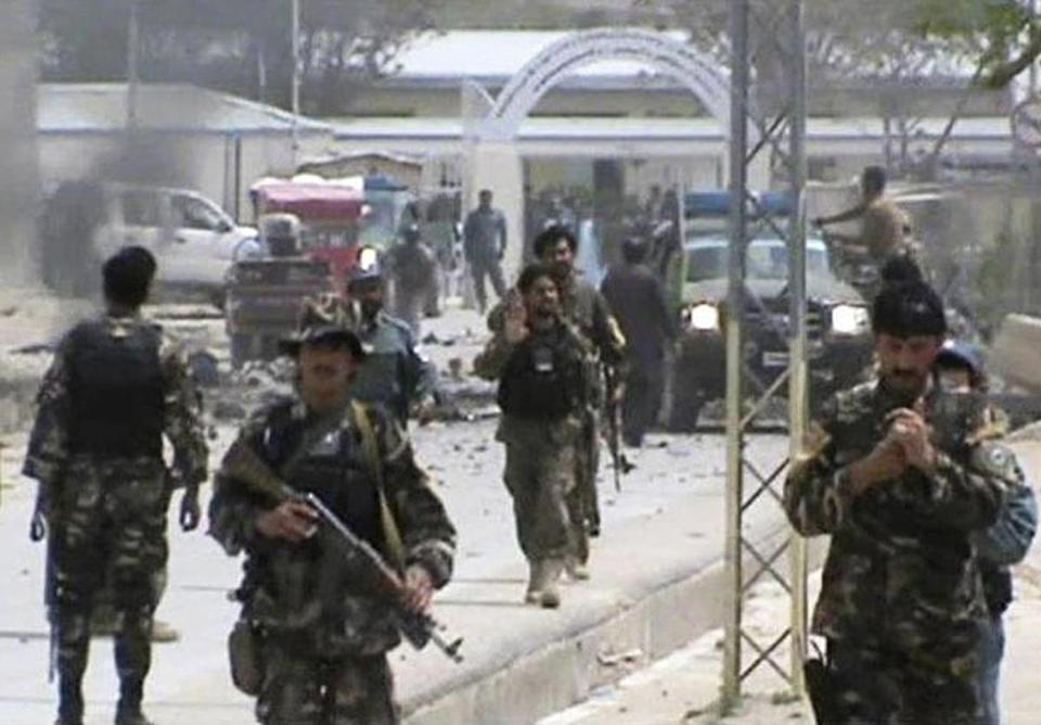 Afghan forces rushed to the scene of car bomb blast in southern Afghanistan on Saturday.