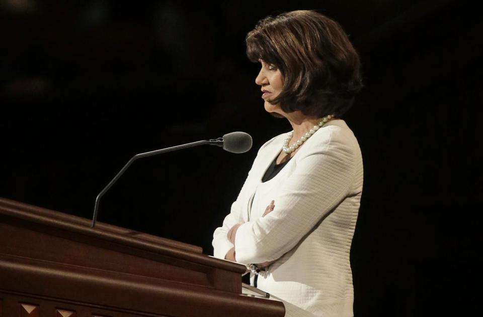 Jean A. Stevens conducted the morning session's closing prayer during the 183rd Annual General Conference of The Church of Jesus Christ of Latter-day Saints.