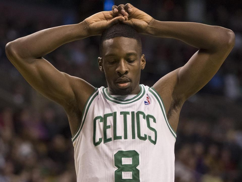 Jeff Green was up in arms after he was called for a foul in the third quarter. Green had team-highs of 23 points and nine rebounds.