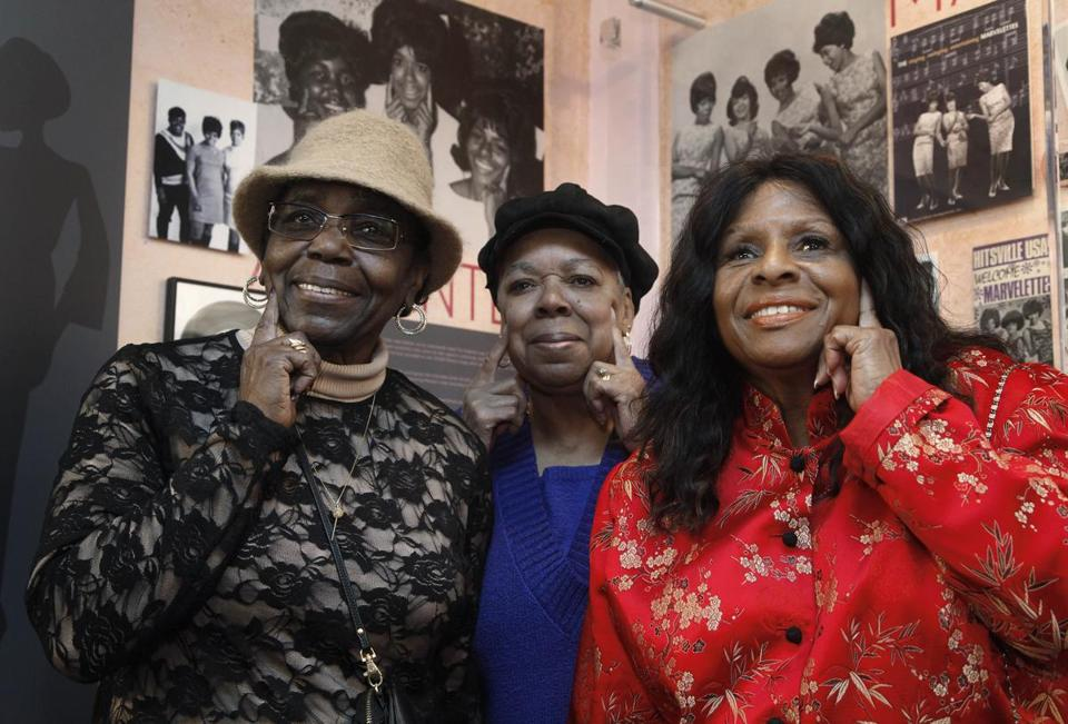 The Andantes — (from left) Jackie Hicks, Marlene Barrow-Tate. and Louvain Demps — were backup singers for Motown artists including Marvin Gaye, Stevie Wonder, the Four Tops, and Smokey Robinson and the Miracles.