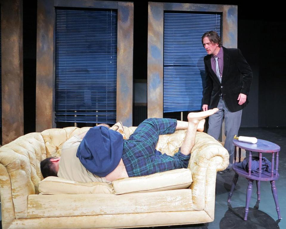 "Matthew Milo Sergi (left) and Ronald Lacey in the Apollinaire Theatre Company production of ""Luther.''"