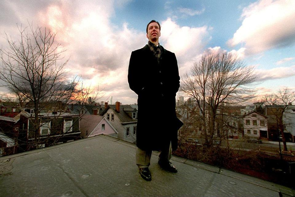 Stephen F. Lynch, atop his South Boston home in 1997. Today, he represents the Eighth Congressional district.