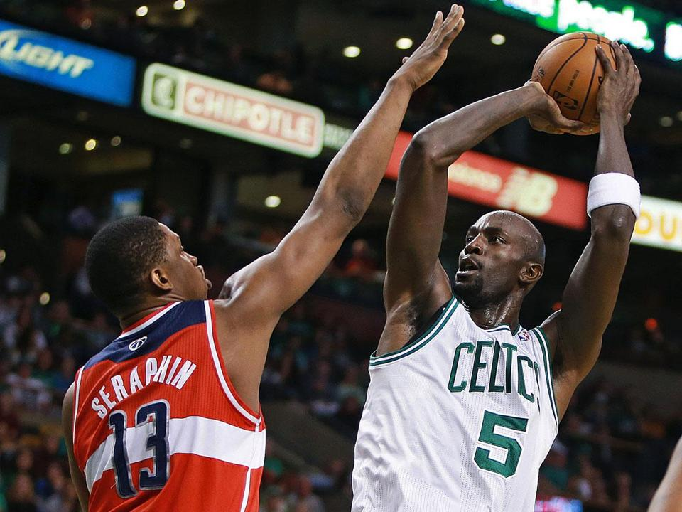 Celtics coach Doc Rivers has attributed the team's defensive woes inside to the absence of Kevin Garnett.