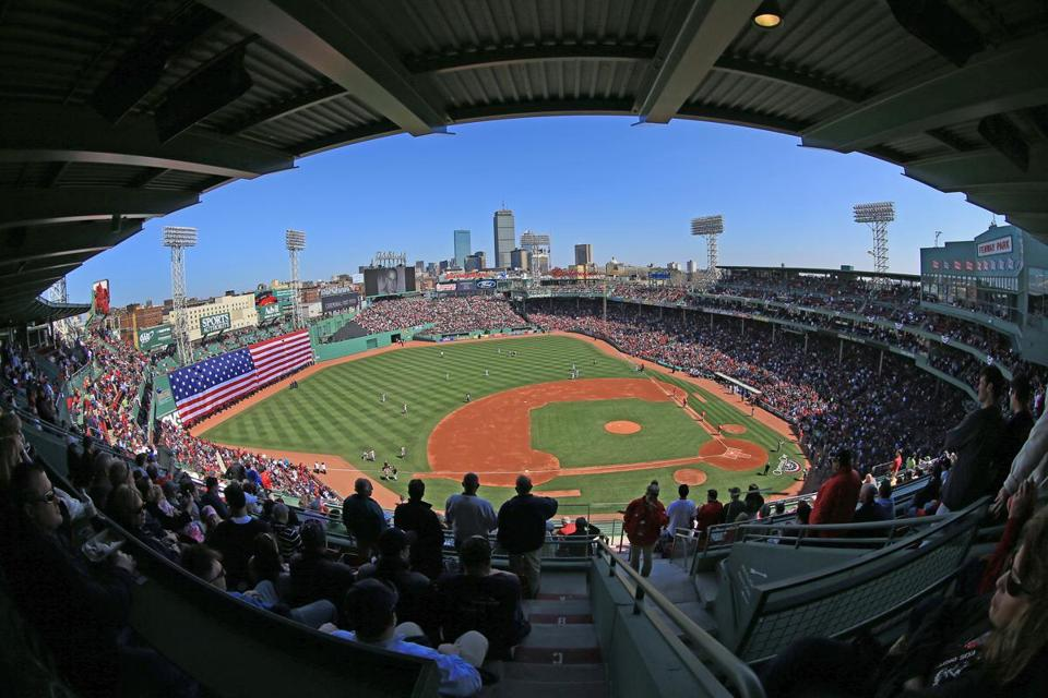 A soldout Fenway watched the Red Sox win their home opener Monday against the Orioles.