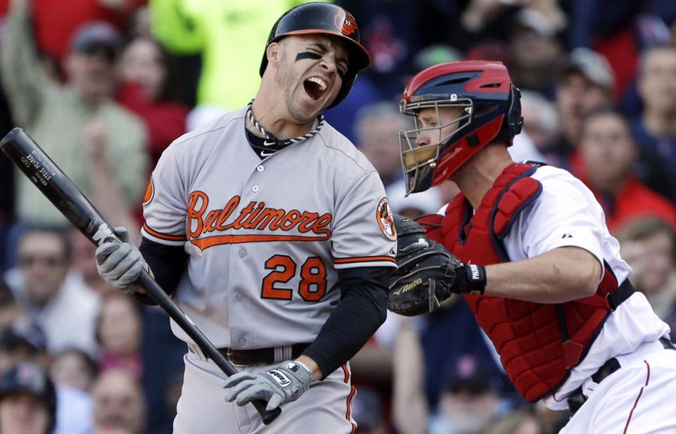 Steve Pearce struck out in the seventh inning.
