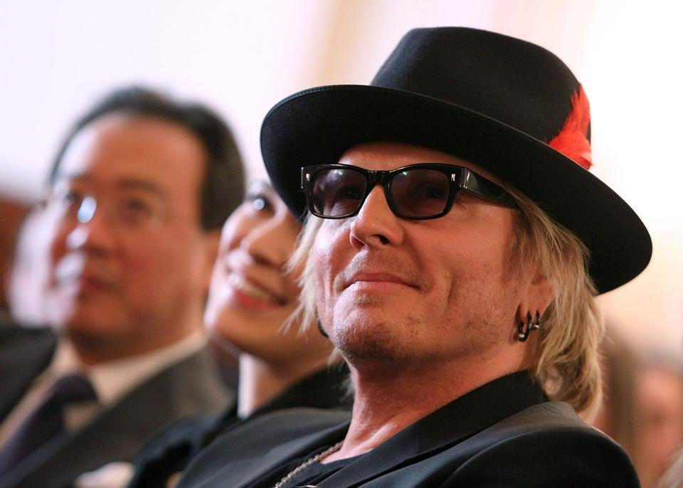 From left: musicians Yo-Yo Ma, Cristina Pato, and Matt Sorum in Washington.