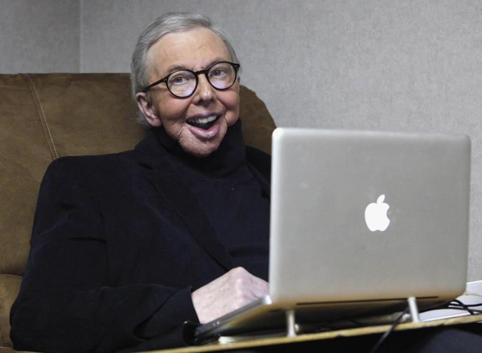 Roger Ebert is seen at work in his office at the WTTW-TV studios in Chicago in this Jan 12, 2011 photo.