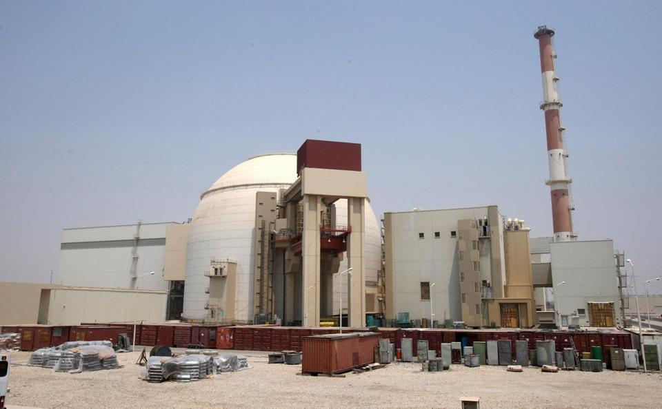The Iranian nuclear power plant in Bushehr, southern Iran.