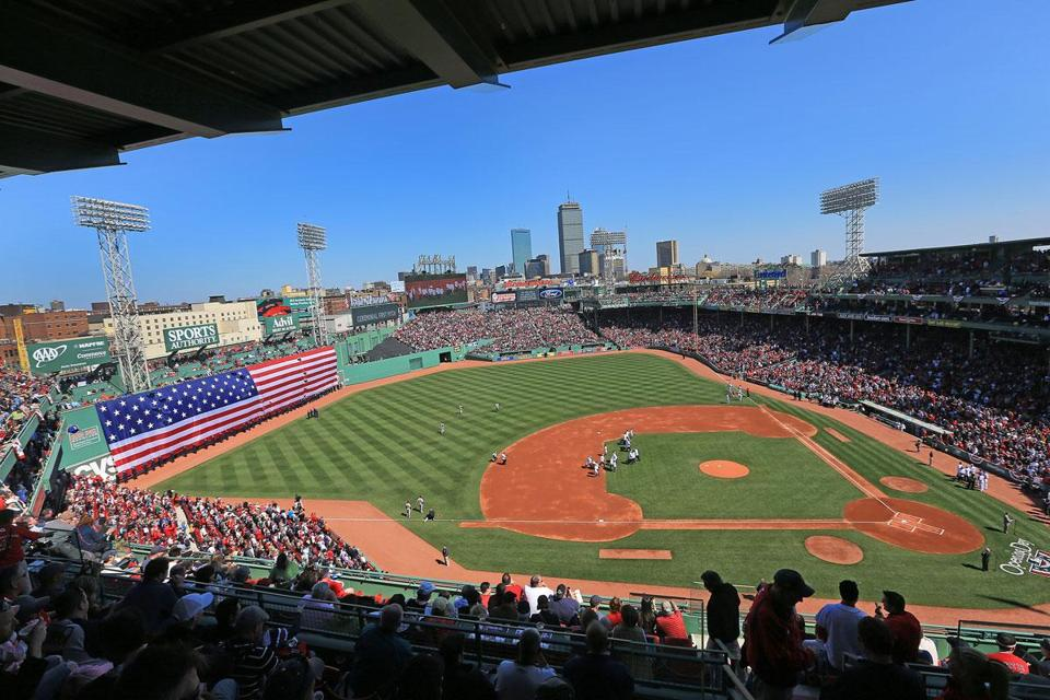 It was a picture-postcard day at Fenway Park, where baseball-loving fans filed in to see their Red Sox.