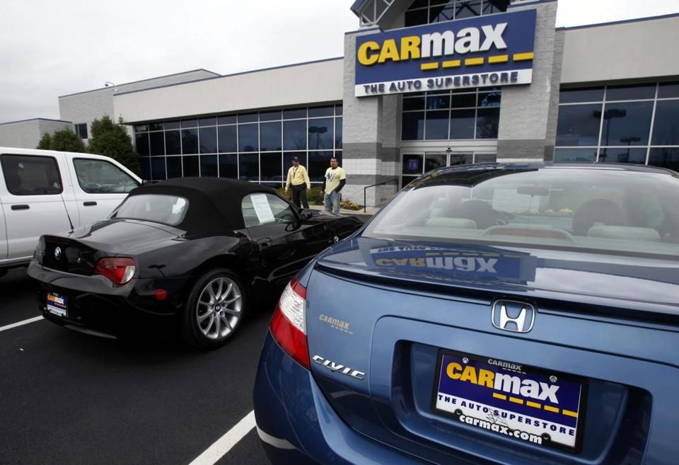 CarMax said sales at stores open at least a year rose 6%.