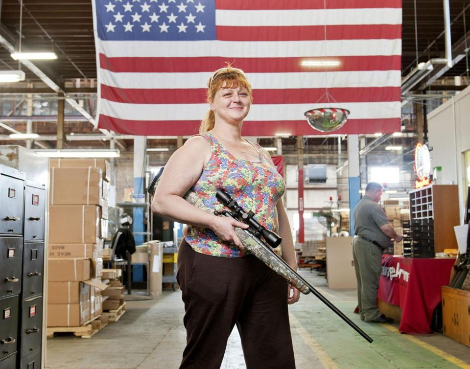 "Westfield's Savage Arms, the century-old pioneer that had deteriorated to the point where it was mocked as ""Salvage Arms"" and left for dead, now can't keep up with demand. Laurinda Pudlo (pictured) came to Savage about a year ago after having worked with toddlers at a day-care center. She finds this work less stressful."