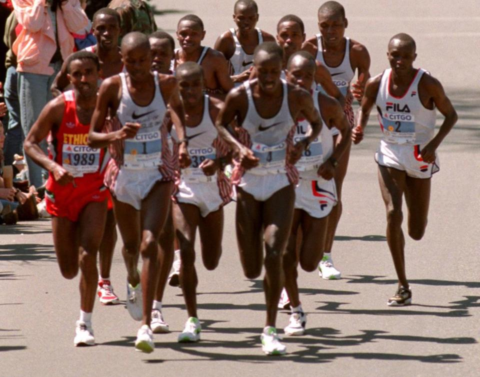 Kenya owned the podium in 2012, becoming the first country to win the top three placements in the men's and women's division sincewomen were officially counted as participants in 1972. Kenya has swept the men's podium four times (2003, '04, '07, and '12) and the women's podium once (2012).