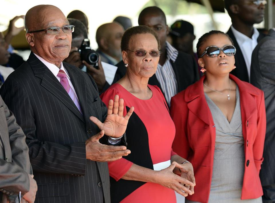 President Jacob Zuma (left) says problems stem from apartheid; others see that as an excuse.