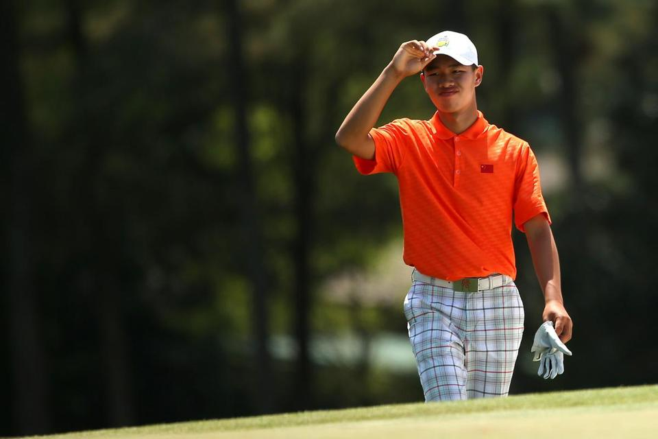 Tianlang Guan, 14, will get another chance to walk up the 18th fairway Saturday after becoming the youngest player to make the Masters cut.
