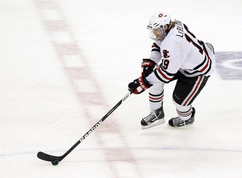 St. Cloud State captain Drew LeBlanc led the nation with 37 assists.