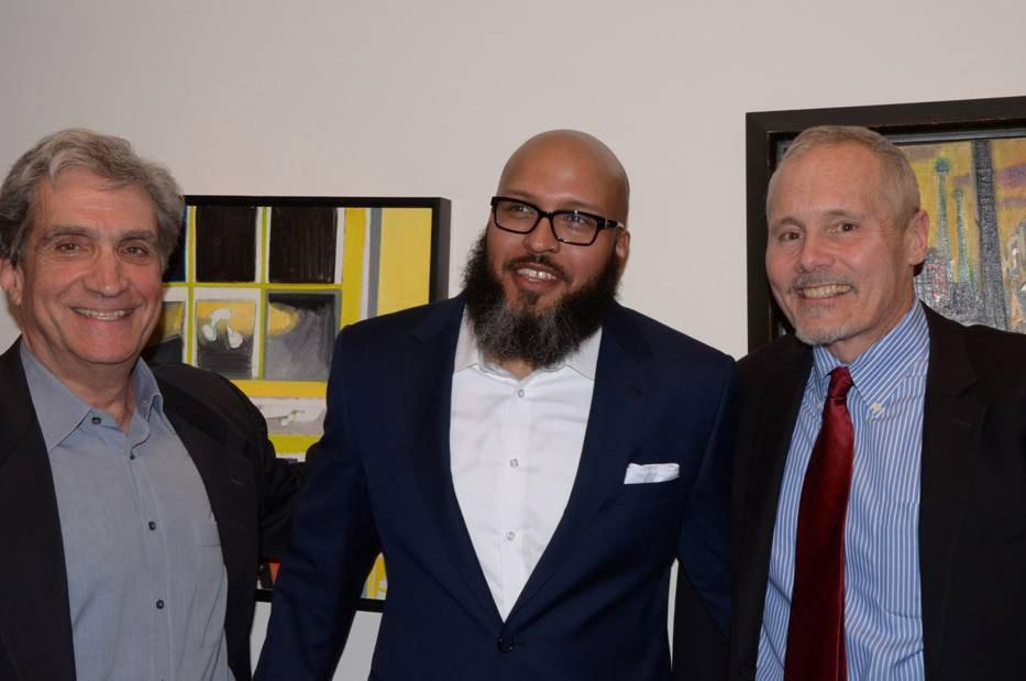 From left: Robert Pinsky, John Murillo, and Michael Roberts, executive director of the Fine Arts Work Center.