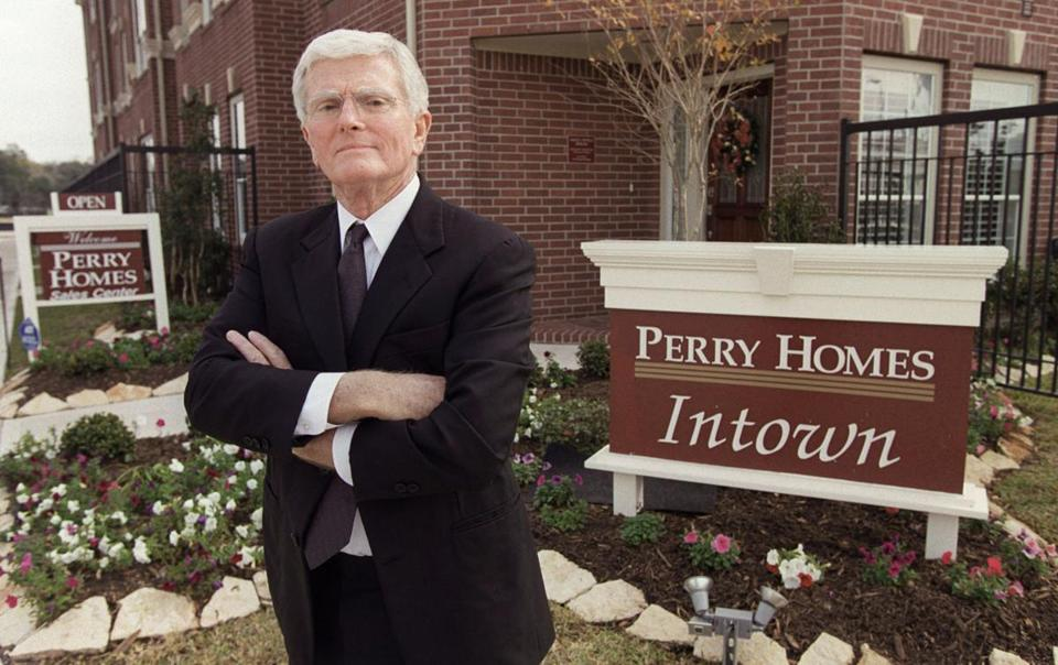 Mr. Perry founded Houston-based Perry Homes, one of the largest homebuilders in Texas.