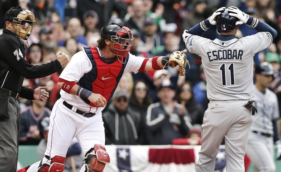 Red Sox catcher Jarrod  Saltalamacchia made sure the mound was Clay Buchholz's comfort zone.
