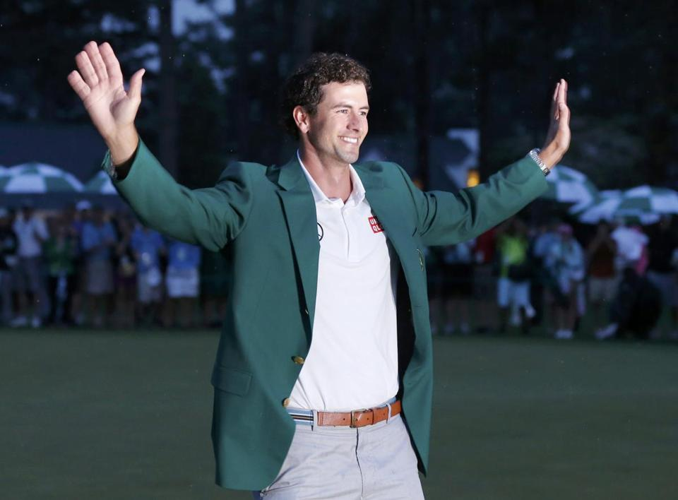 Adam Scott was the toast of Augusta National after winning the Masters Sunday, and he was hailed Down Under, too.