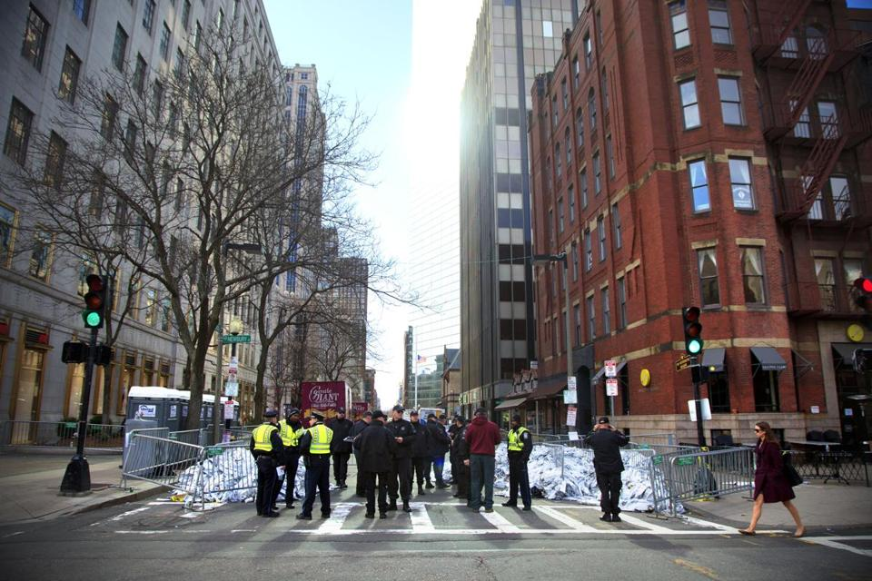 Part of the Back Bay was closed for about a week after the bombing.