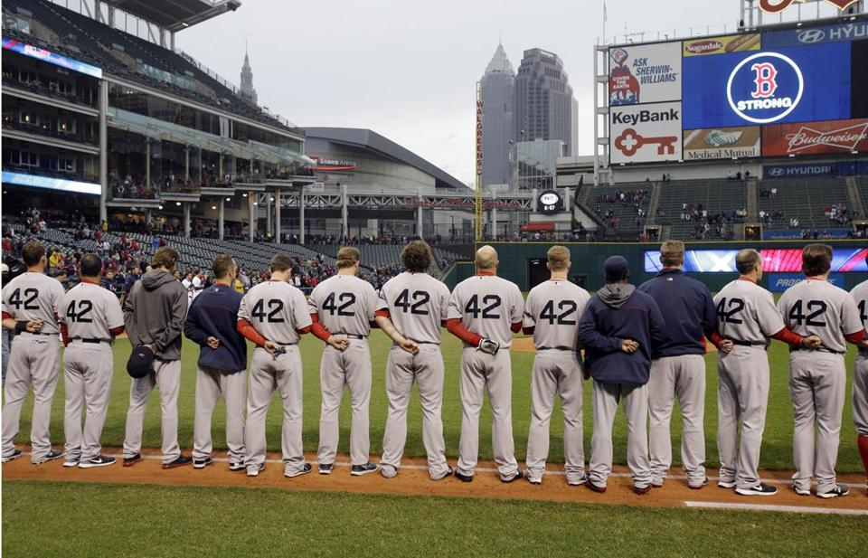 The Red Sox had a moment of silence for victims before a game in Cleveland, playing the Indians at Progressive Field.