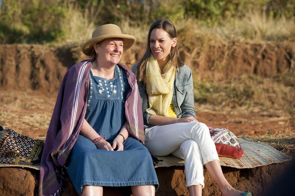 "Brenda Blethyn (left) and Hilary Swank star as two mothers with sick children in HBO's ""Mary and Martha."""