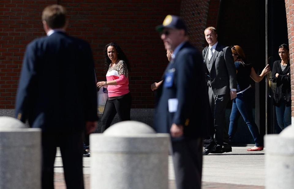 Employees were evacuated from the courthouse after a bomb threat was received.