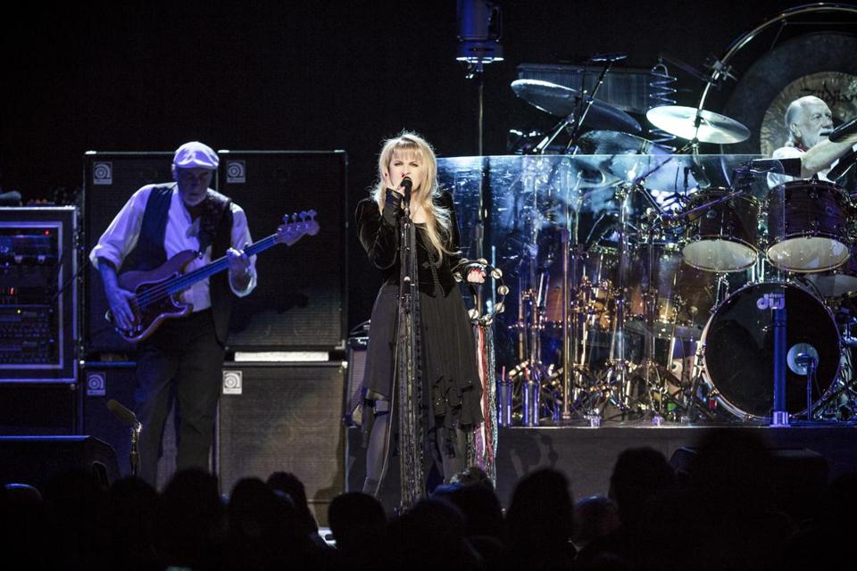 Fleetwood Mac (pictured performing in New York earlier this month) delivered a 2½-hour show at the TD Garden on Thursday night.