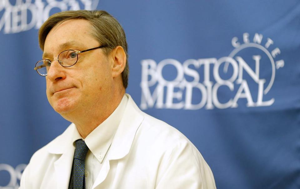 Peter Burke, Boston Medical Center's chief of trauma services , said a five-year-old boy grievously injured in Monday's Marathon bombings is getting better.