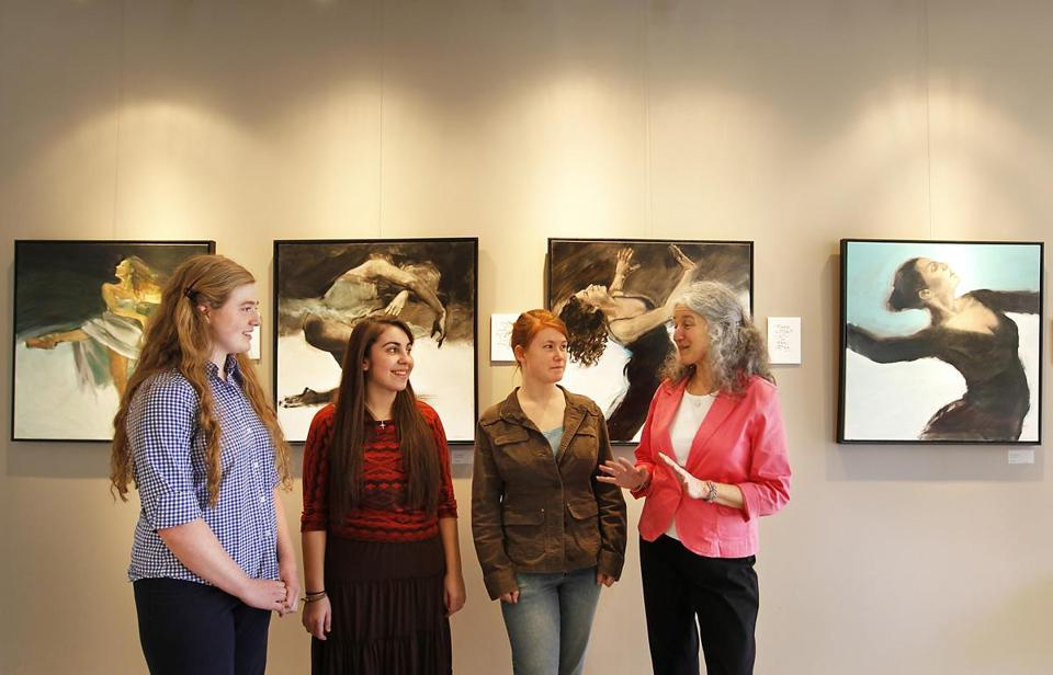 Deborah Szabo (right), with some of her creative writing students.