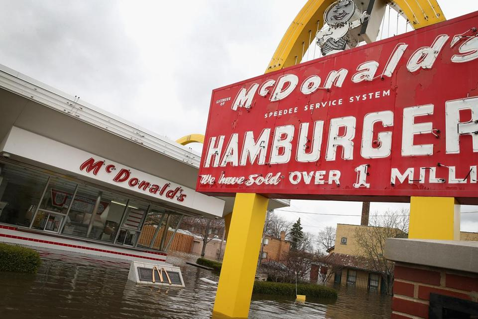McDonald's has more than 34,000 locations worldwide.