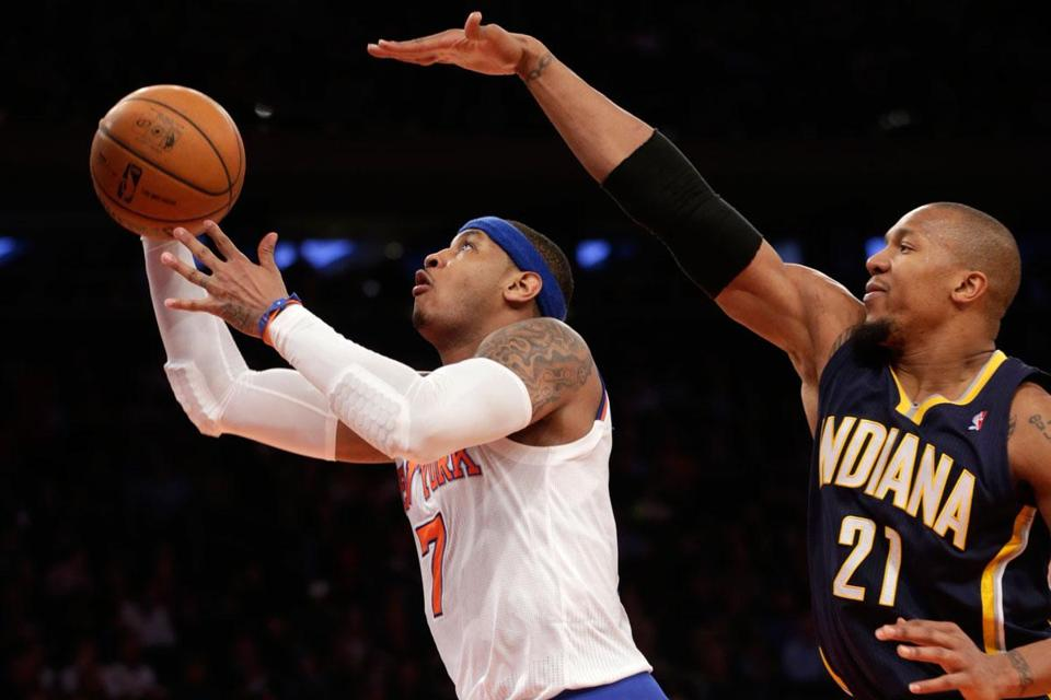 The Knicks need league scoring leader Carmelo Anthony to be on top of his game in the playoffs.