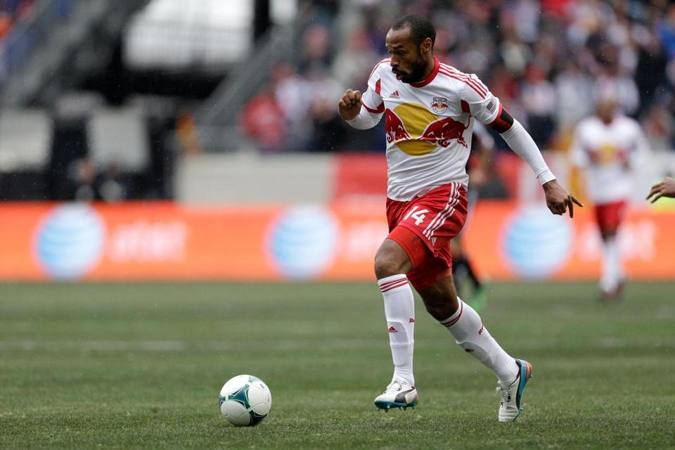 The Red Bulls added late goals by Thierry Henry (above) and Jonny Steele to put it away.