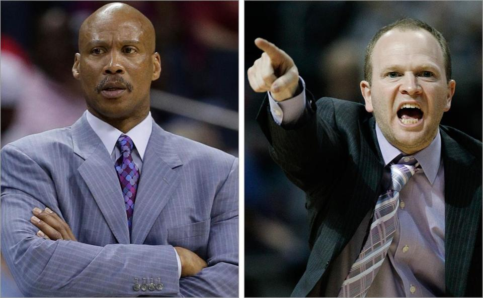 The downtrodden Cavaliers and Pistons fired Byron Scott (left) and Lawrence Frank, respectively. Who will replace them?