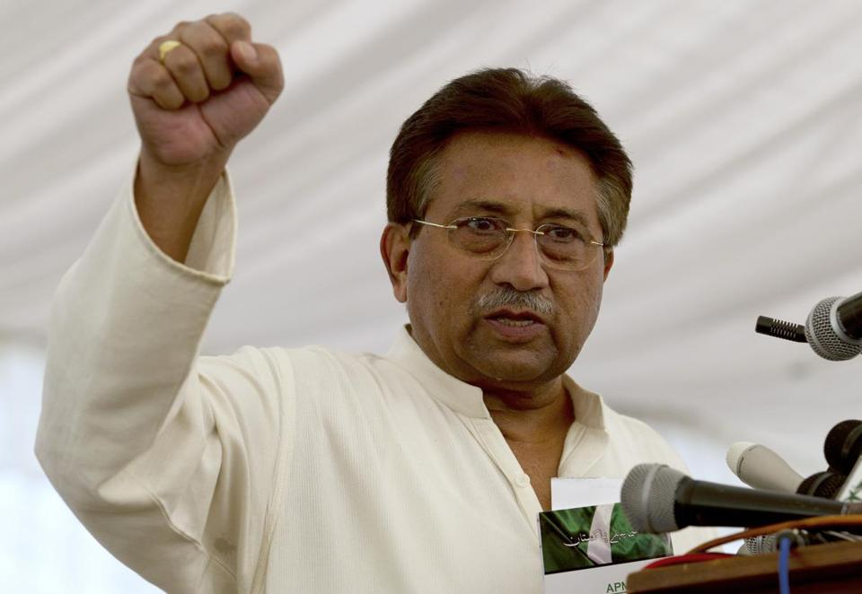 Pakistan's former President and military ruler Pervez Musharraf is being held under house arrest.