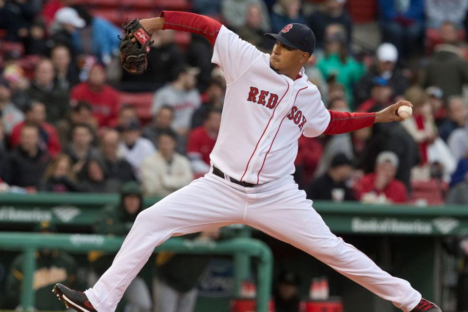 Red Sox starter Felix Doubront fanned eight A's in 6 2/3 innings.