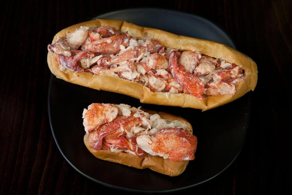 The 14- and 7-ounce lobster rolls served by Paul Barker at Pauli's in the North End.