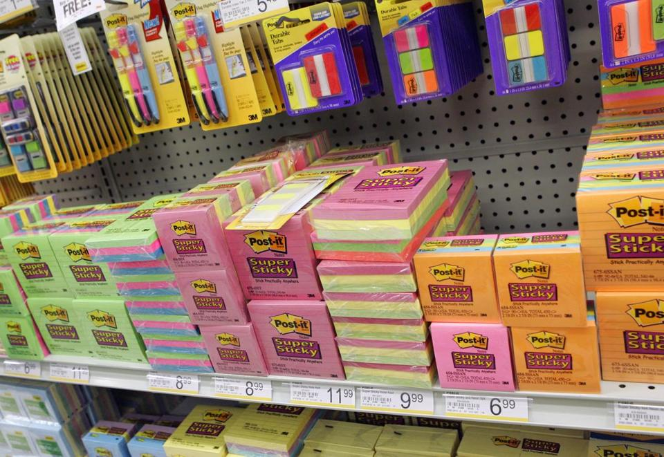 3M's many products include Post-it notes and Scotch tape.