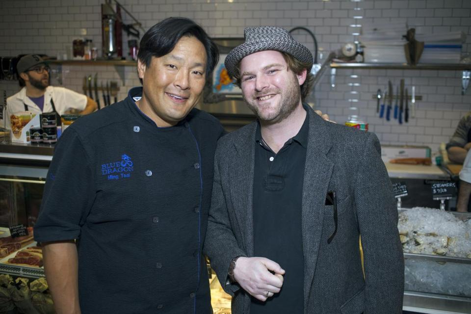 Ming Tsai (left) and Jason Owens of Bee's Knees Supply Co.
