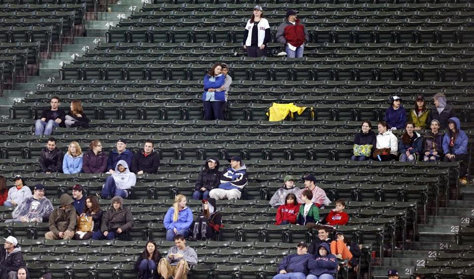 Empty seats have been scattered across some Red Sox games this month, as the team finally admitted its long-running sellout streak had ended.