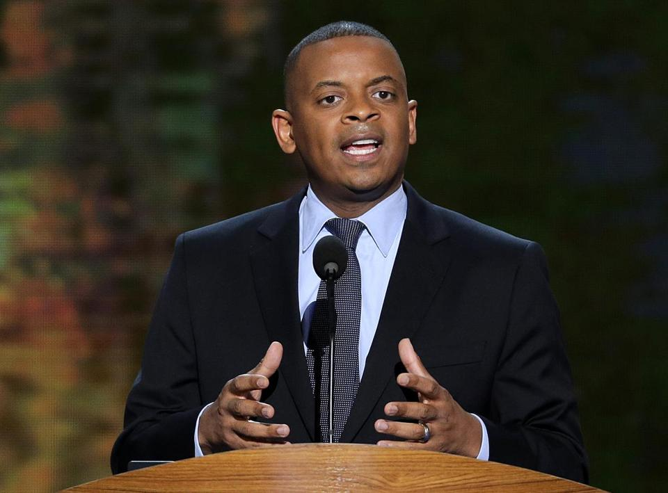 Charlotte, N.C., Mayor Anthony Foxx addressed the Democratic National Convention in September.