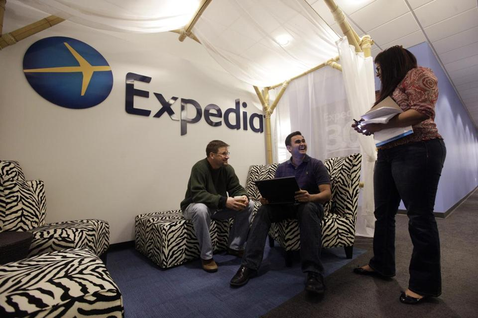 International sales helped increase Expedia's revenue.